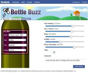Weinbewertung mit Schiebereglern